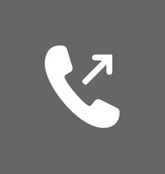 outgoing incoming call icon vector image