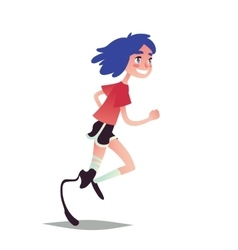 Prosthetic Girl Running vector