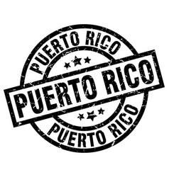 Puerto rico black round grunge stamp vector