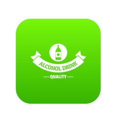 quality cognac icon green vector image