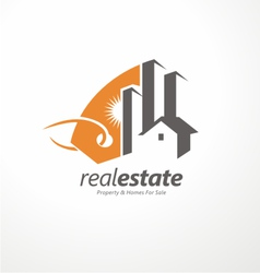Real estate logo design vector