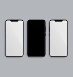 realistic smartphone mockup with front and back vector image
