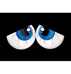 Sad bulging eyes vector