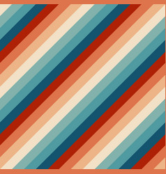 Seamless rainbow stripes pattern retrowave 80s vector
