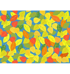 Seemless leaf tile in autum colors vector