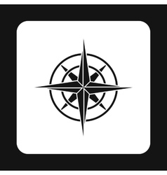 Sign of compass icon simple style vector
