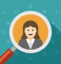 Simple business woman icon vector