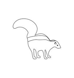 Skunk black icon vector