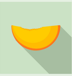 slice of peach icon flat style vector image