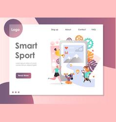 smart sport website landing page design vector image