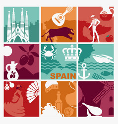 Spain background vector