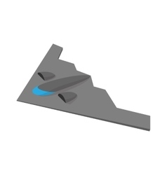 Stealth bomber icon cartoon style vector