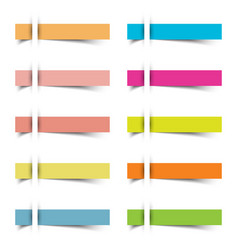 sticky notes insert 9 pcs vector image