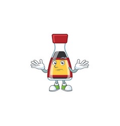 Super funny grinning say asian sauce mascot vector