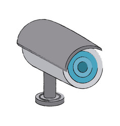 surveillance camera technology vector image