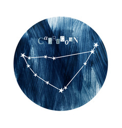 The capricorn zodiac constellation vector