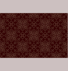 vintage endless pattern burgundy background vector image