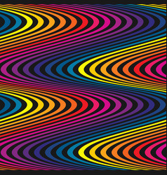 Wavy seamless pattern curved lines striped vector