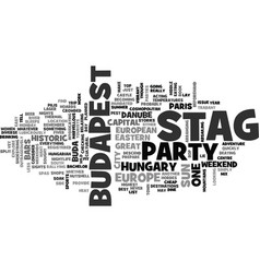 Why not a stag party in budapest text word cloud vector