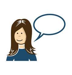 woman speaking vector image