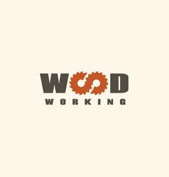 Wood working logo vector