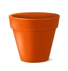 Empty flowerpot vector image vector image