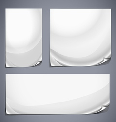 Grey labels set vector image vector image