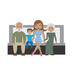 portrait people family happiness vector image vector image