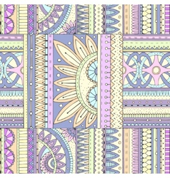 Seamless ethnic pattern with geometric elements vector image vector image