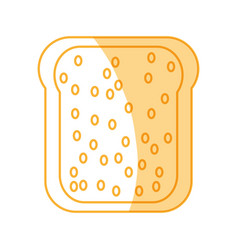toasted bread loaf vector image
