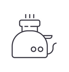 toaster line icon sign on vector image