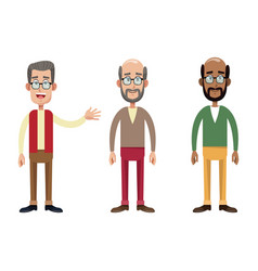group male grandfather image vector image vector image