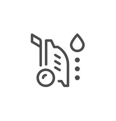 high pressure washer line icon vector image vector image