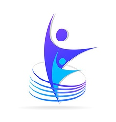 Logo successful people vector