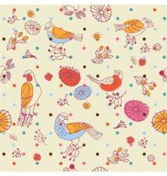 birds seamless pattern vector image vector image