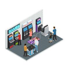 game club interior concept vector image vector image