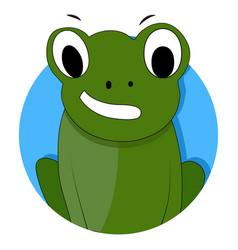 green frog icon app vector image vector image