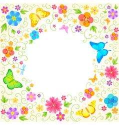 Summer floral design vector image vector image