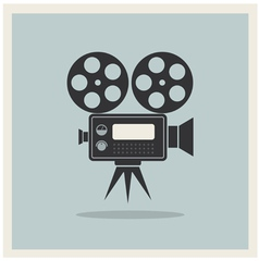 Video Movie Camera on Retro Background vector image