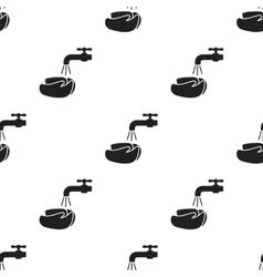 Washing hands icon black Single sick icon from vector image