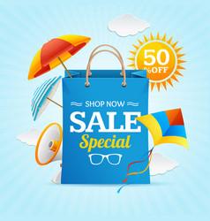 big sale summer concept banner card or poster vector image