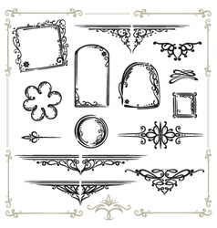 calligraphy design elements vector image