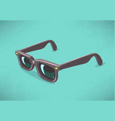classic model sunglasses on a solid background vector image