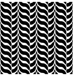 Design monochrome interlaced pattern vector image vector image