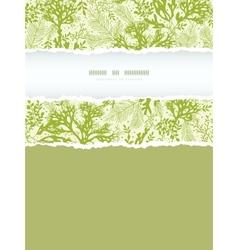 Green underwater seaweed vertical torn frame vector image vector image