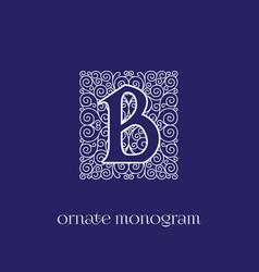 Monogram b vector