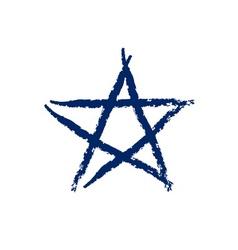 Star icon grunge texture vector