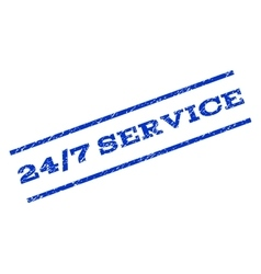 24-7 Service Watermark Stamp vector