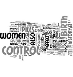 A brief history of birth control text word cloud vector