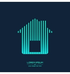 Abstract Creative concept icon of house for vector